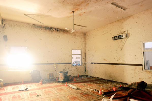 آثار تفجير مسجد الطوارئ 1