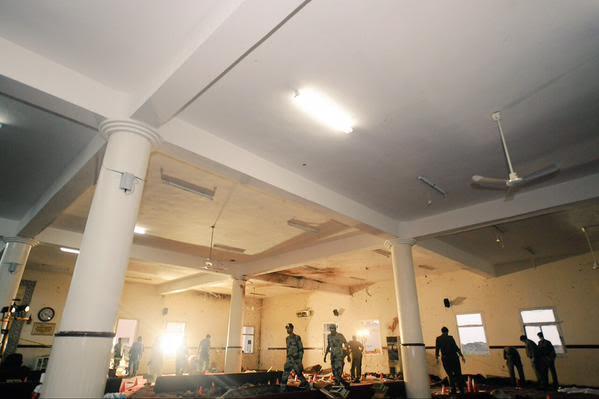 آثار تفجير مسجد الطوارئ 2