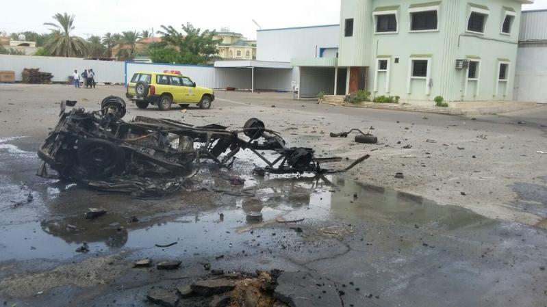 أضرار المقذوف مصنع المياه نجران
