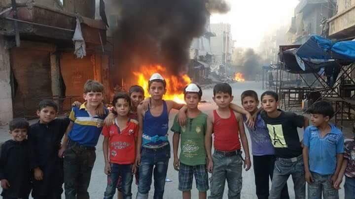 أطفال حلب في المعركة