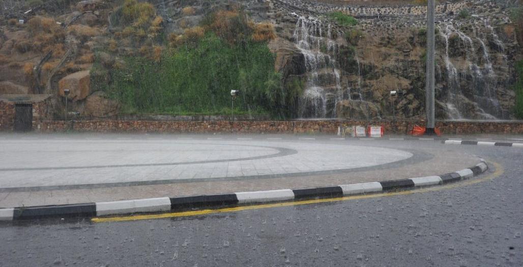 أمطار رعدية مصحوبة برياح نشطة على الطائف وميسان