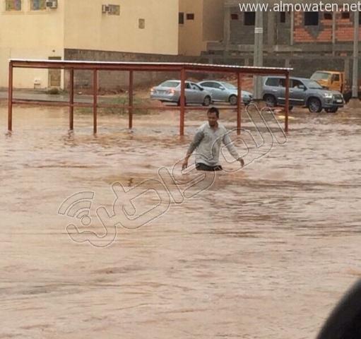 أمطار #القصيم .. إخلاء 3 منازل وإيواء 26 شخصًا في #بريدة (10)