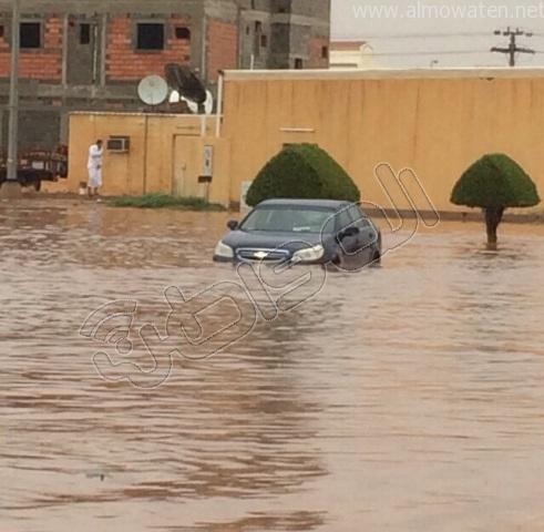أمطار #القصيم .. إخلاء 3 منازل وإيواء 26 شخصًا في #بريدة (11)