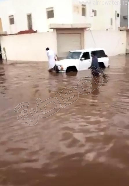 أمطار #القصيم .. إخلاء 3 منازل وإيواء 26 شخصًا في #بريدة (8)