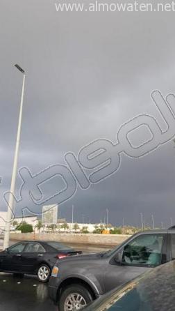 أمطار شبه متوسطة على الأجزاء الشمالية من #جدة (4)