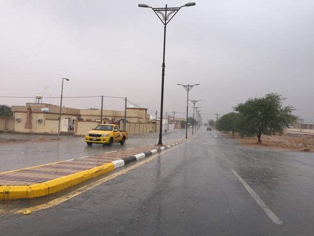 أمطار غزيرة تتواصل على #رماح (2)
