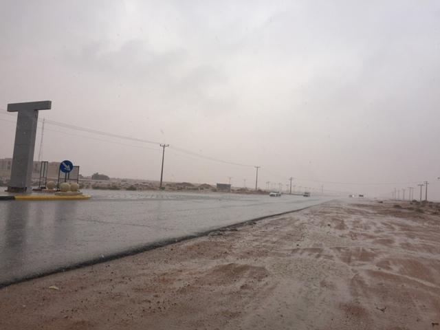 أمطار غزيرة تتواصل على #رماح (3)