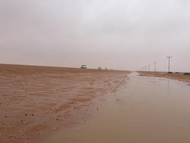 أمطار غزيرة تتواصل على #رماح (4)
