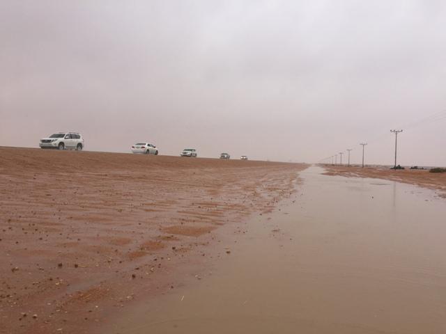 أمطار غزيرة تتواصل على #رماح (5)