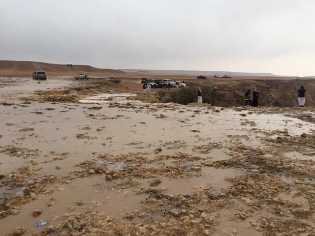 أمطار غزيرة تتواصل على #رماح (7)