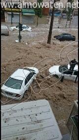 أمطار غزيرة تُعلق الدراسة وتوقف السير بالعاصمة الأردنية (8)
