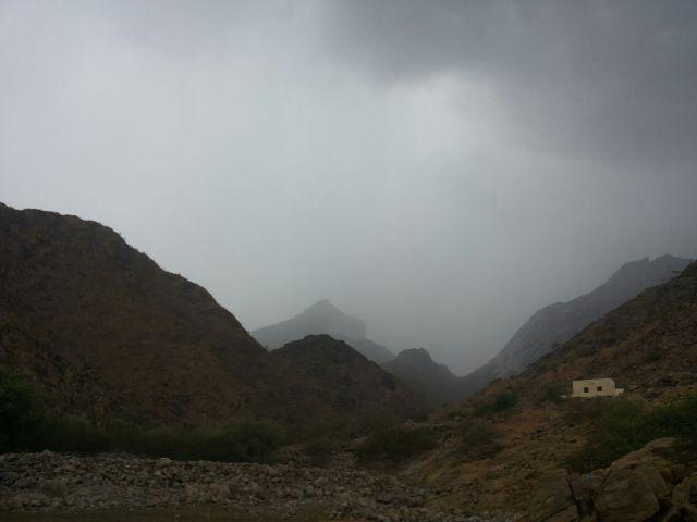 أمطار غزيرة على #أضم ومراكزها (2)