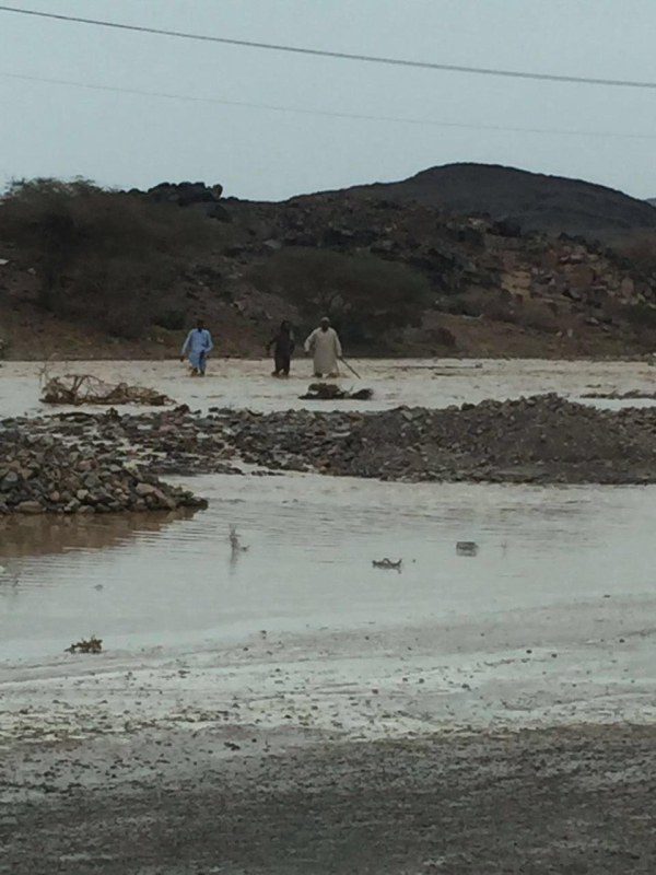 أمطار غزيرة على القرى ومحافظات المدينة المنورة 1