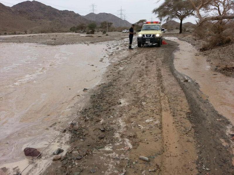 أمطار غزيرة على القرى ومحافظات المدينة المنورة 2