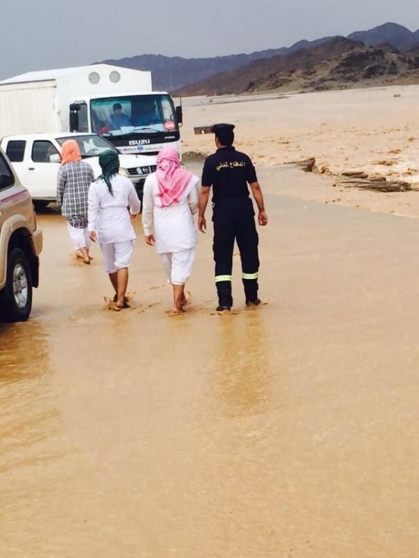 أمطار غزيرة على القرى ومحافظات المدينة المنورة 3