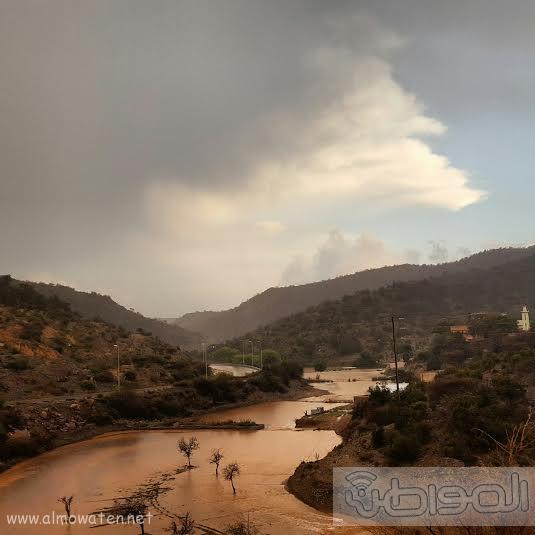 أمطار غزيرة على شمال #عسير10