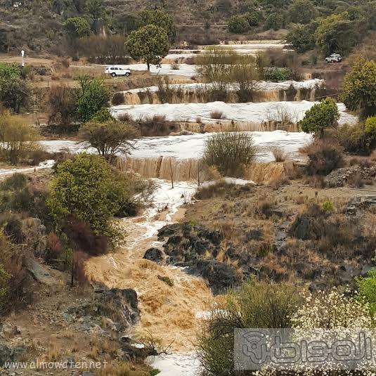 أمطار غزيرة على شمال #عسير12