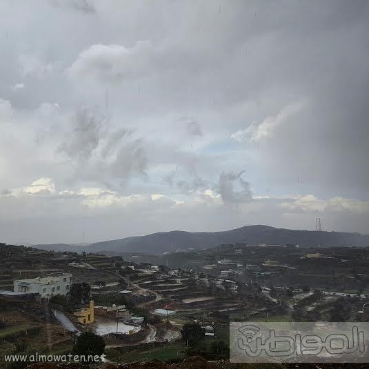 أمطار غزيرة على شمال #عسير13