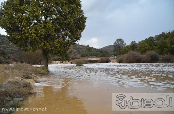 أمطار غزيرة على شمال #عسير17