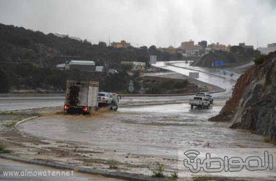 أمطار غزيرة على شمال #عسير23