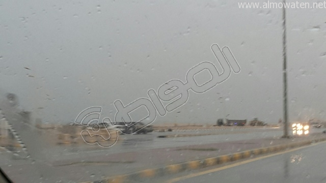 أمطار متوسطة على #الخفجي (4)