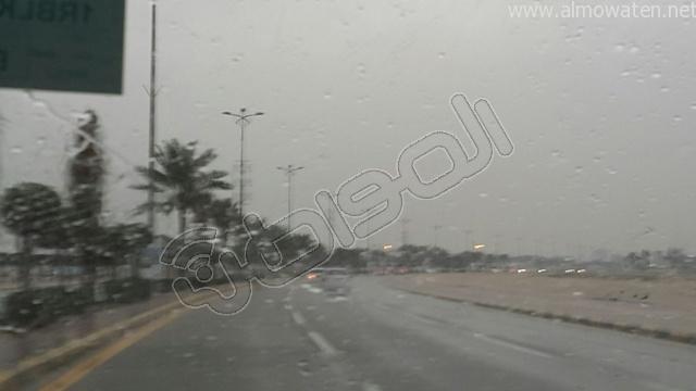 أمطار متوسطة على #الخفجي (5)