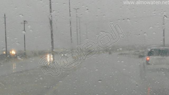 أمطار متوسطة على #الخفجي (6)