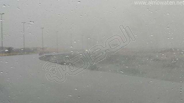 أمطار متوسطة على #الخفجي (8)