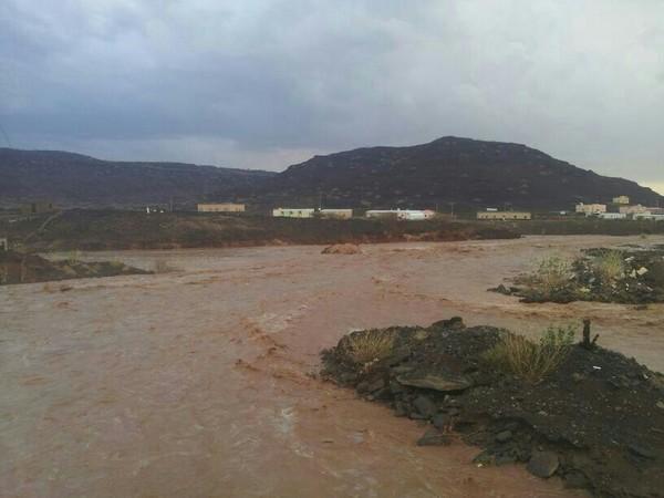 أمطار مركز مدركة شمال مكة المكرمة بعدسة
