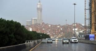 أمطار رعدية على مكة حتى الثامنة
