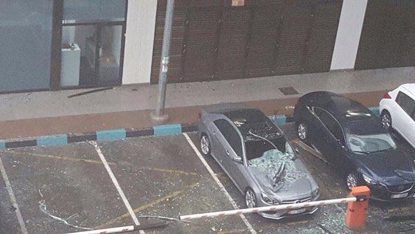#أمطار_الإمارات تُعلن توقف الحياة بشكل كامل (4)