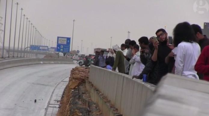 #أمطار_الرياض في الإعلام البريطاني