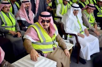 أمير الرياض يتفقد مشروع المترو (1)