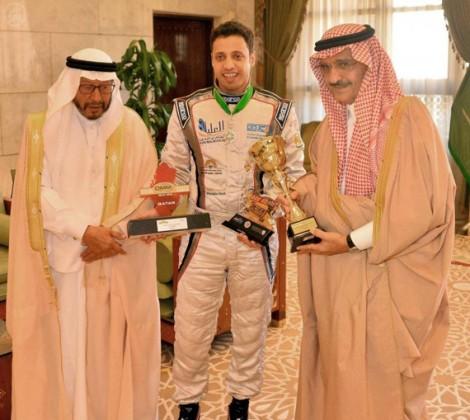 أمير الرياض يستقبل بطل العالم ابن سعيدان