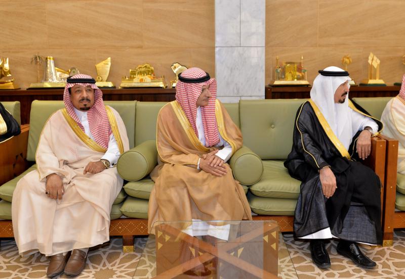 أمير الرياض يستقبل رئيس الهيئة الملكية وكبار المسؤولين المهنئين برمضان (100224021) 