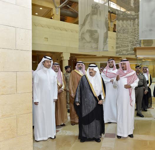 أمير منطقة الرياض يزور دارة الملك عبدالعزيز بمركز الملك عبد العزيز التاريخي بالمربع2