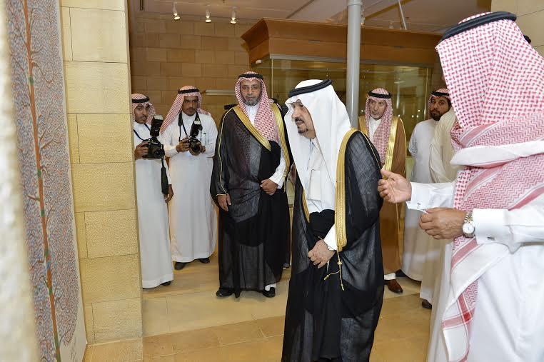 أمير منطقة الرياض يزور دارة الملك عبدالعزيز بمركز الملك عبد العزيز التاريخي بالمربع8