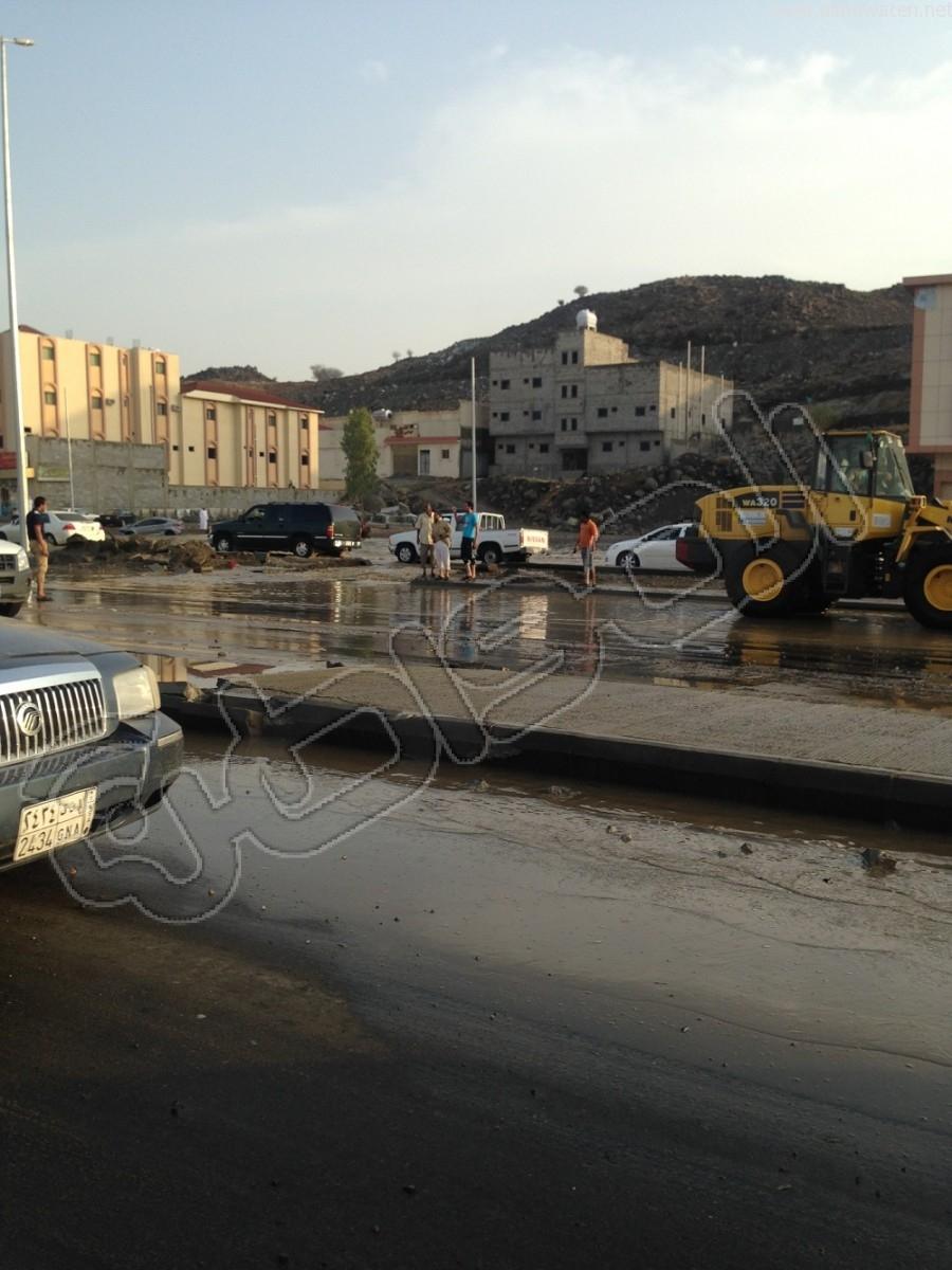 """بالصور.. الأمطار تفضح """"أم السباع"""" بـ #الطائف - المواطن"""