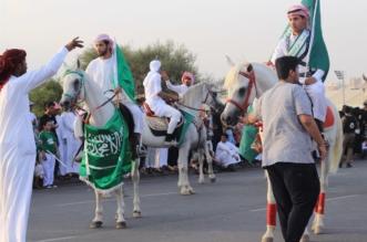 بالصور .. أهالي الطائف يحتفلون بيوم الوطن في قصر شبرا والردف - المواطن