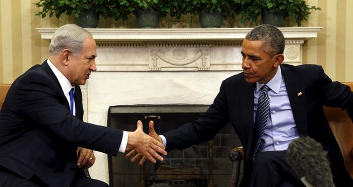 أوباما مع رئيس الوزراء الإسرائيلي بنيامين نتنياهو