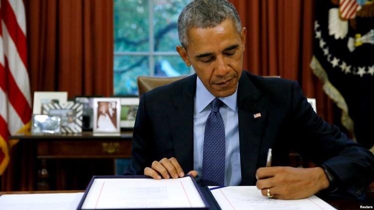 أوباما يوقع