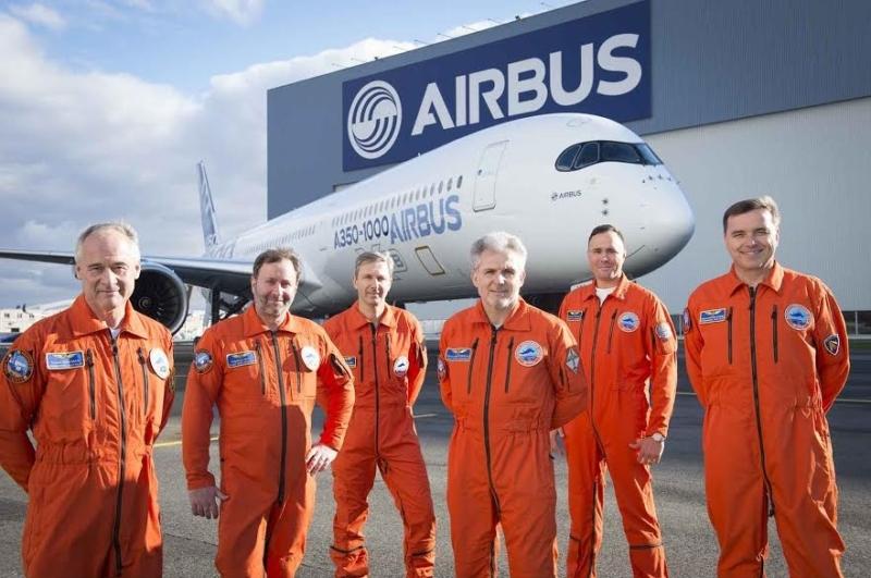 أول رحلة اختبارية لطائرة إيرباص A350-1000