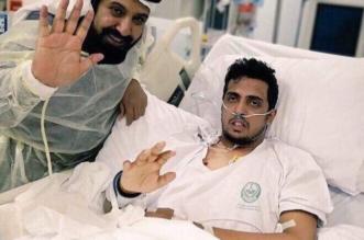 أول صورة للبطل مشعل العنزي تبين تحسن حالته الصحية - المواطن