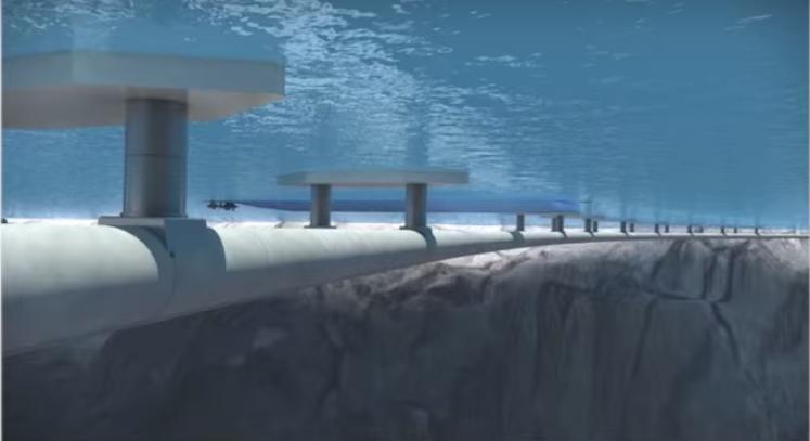 أول نفق عائم تحت الماء في العالم