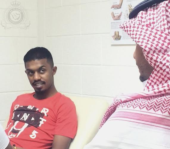 إبراهيم غالب يواصل تدريباته العلاجية في النصر (214897141) 
