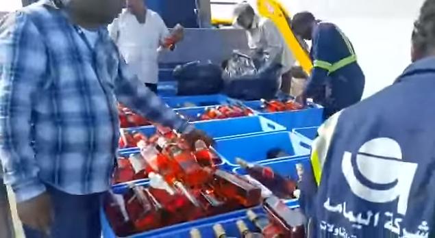 إتلاف خمور مستوردة بأكثر من 12 مليون ريال في جدة