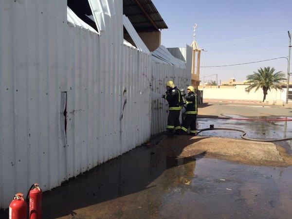 إحباط حريق محطة وقود في حائل (1)