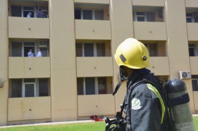 إخماد حريق بسكن مستشفى الملك خالد بحائل6