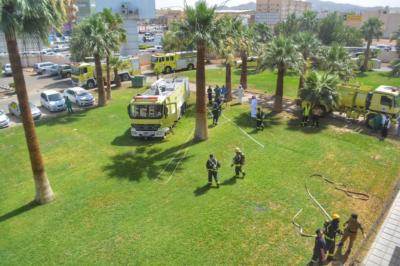 إخماد حريق بسكن مستشفى الملك خالد بحائل7