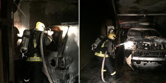 إخماد حريق بفناء منزل بمحافظة الزلفي